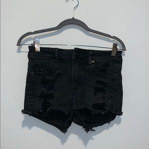 American Eagle Black Hi-Rise Shorts